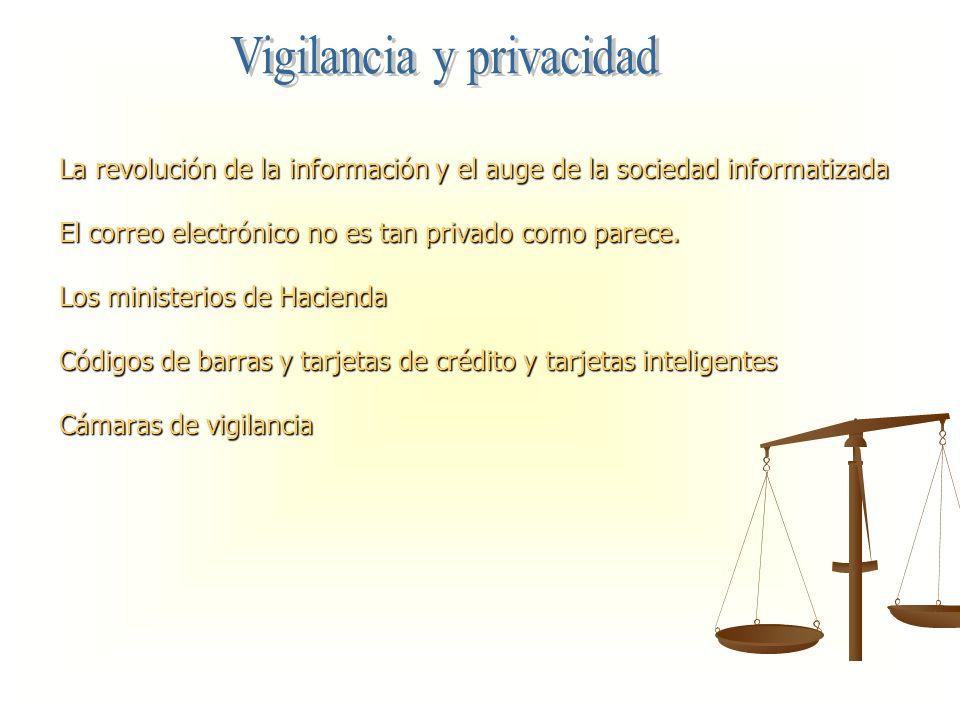 La revolución de la información y el auge de la sociedad informatizada El correo electrónico no es tan privado como parece. Los ministerios de Haciend