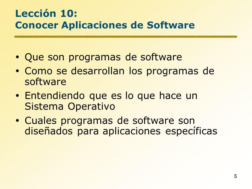 6 Que es un programa de Software.