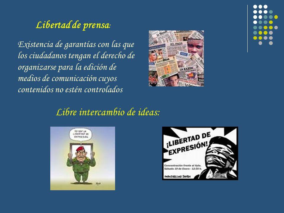 Libertad de prensa : Existencia de garantías con las que los ciudadanos tengan el derecho de organizarse para la edición de medios de comunicación cuy