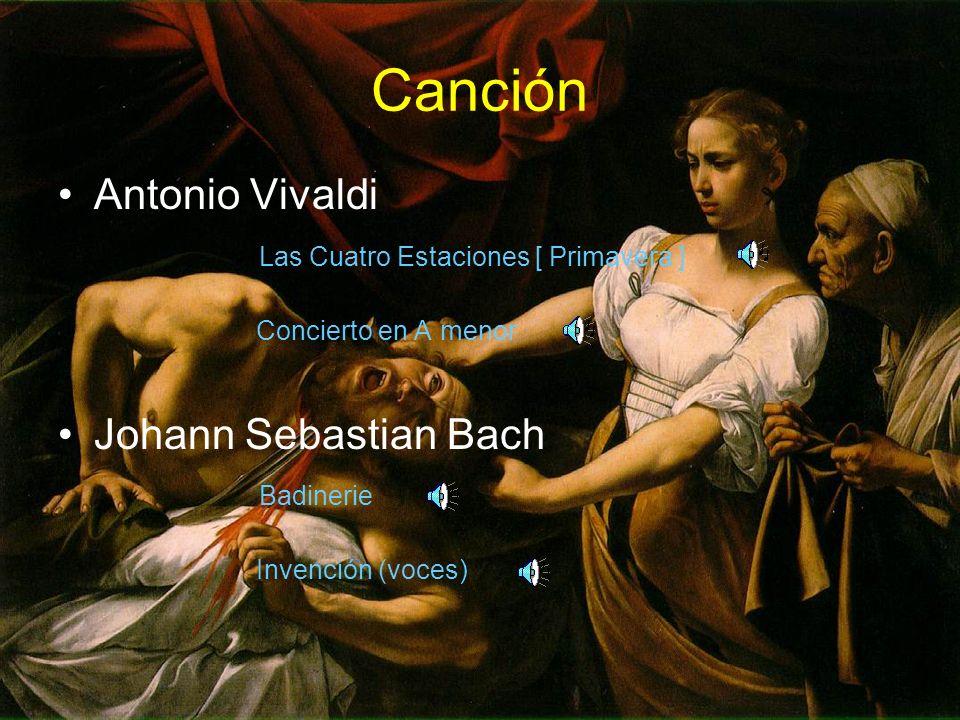 Canción Antonio Vivaldi Las Cuatro Estaciones [ Primavera ] Concierto en A menor Johann Sebastian Bach Badinerie Invención (voces)