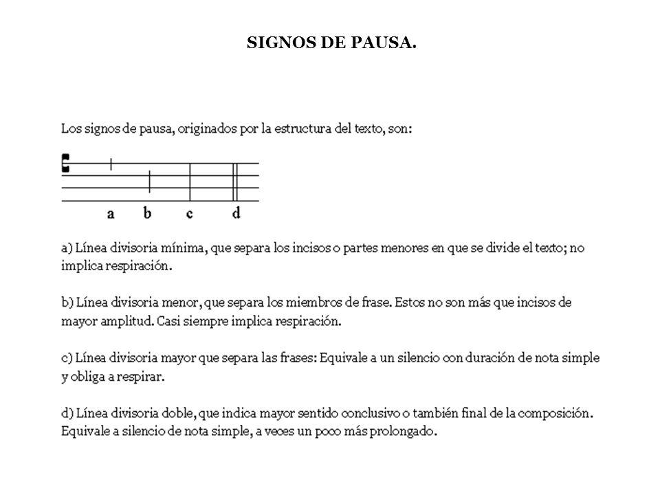 SIGNOS DE PAUSA.