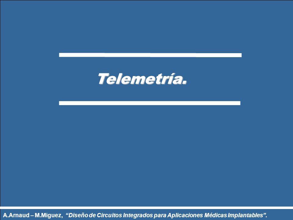 Telemetría. Telemetría. A.Arnaud – M.Miguez, Diseño de Circuitos Integrados para Aplicaciones Médicas Implantables.