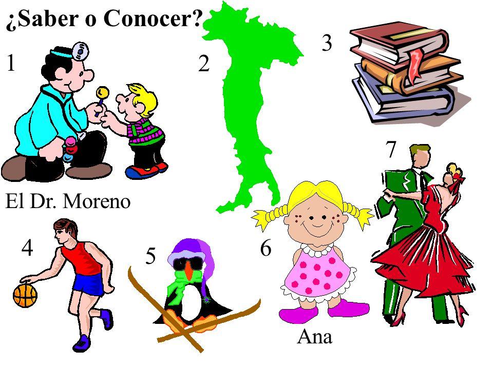 1 El Dr. Moreno 2 3 4 5 6 7 Ana ¿Saber o Conocer