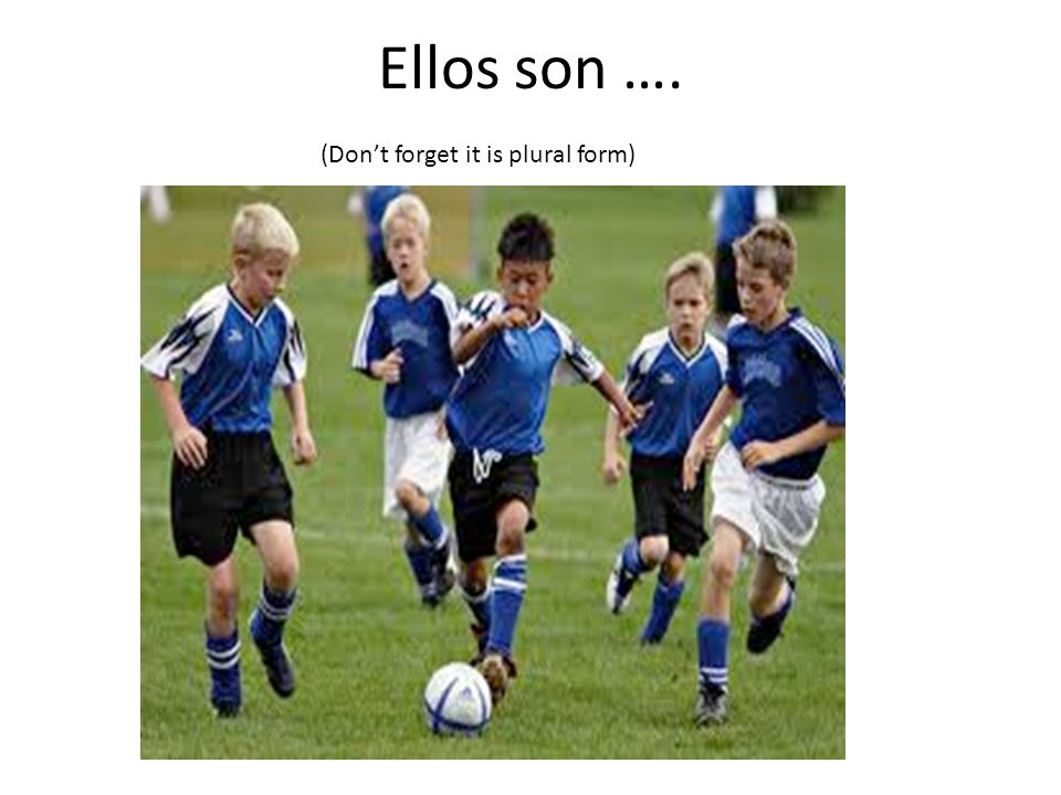 Ellos son …. (Dont forget it is plural form)