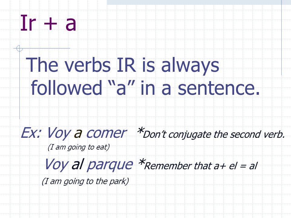 IR (To go) Y o v o y T ú v a s U d.