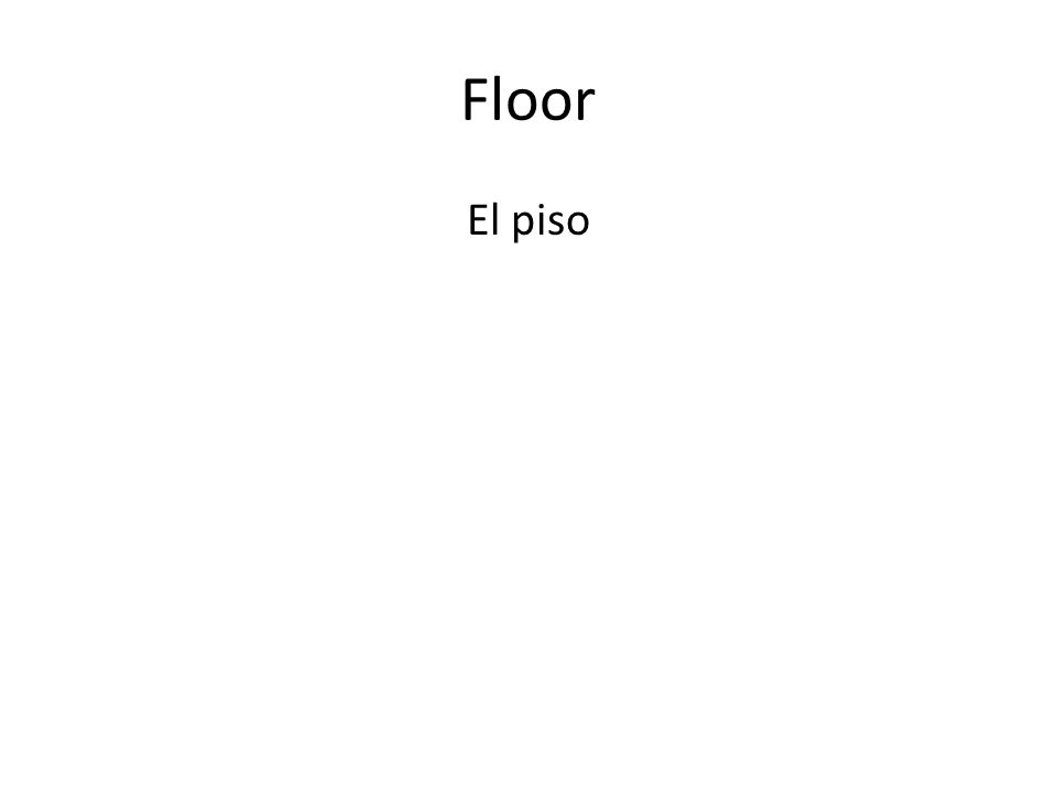 Floor El piso