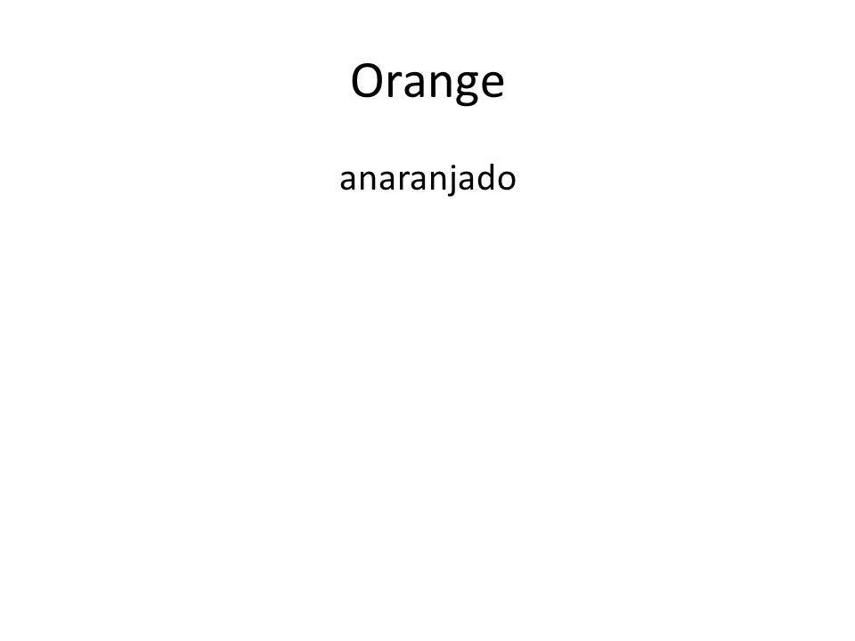 Orange anaranjado
