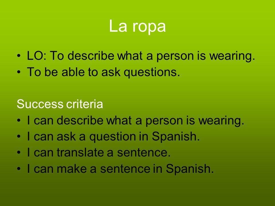 Lets describe Spanish Miss Alos