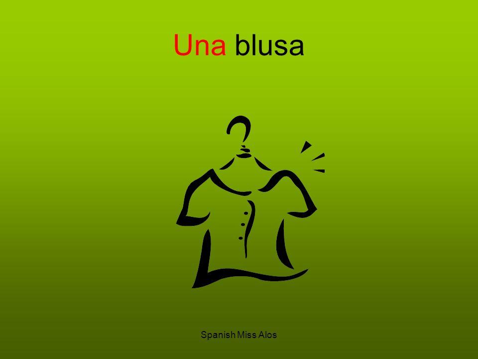 Una blusa Spanish Miss Alos