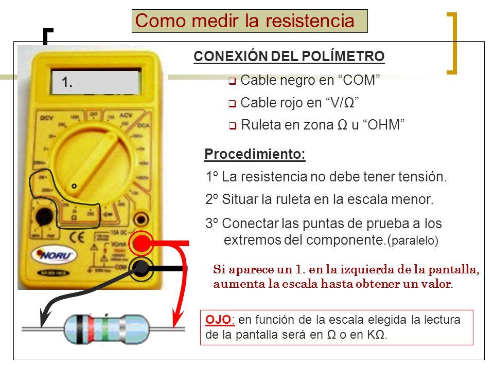 Como medir la resistencia EJEMPLOS 1.