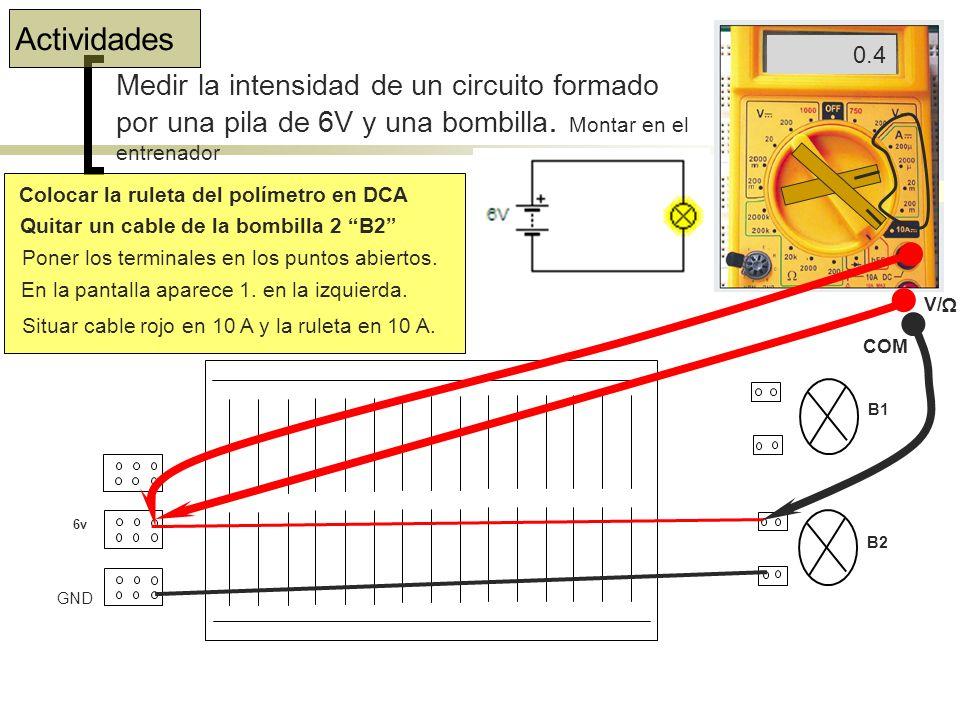 PRÁCTICAS DE ELECTRICIDAD Conexiones placa Board.Asociación de resistencias.