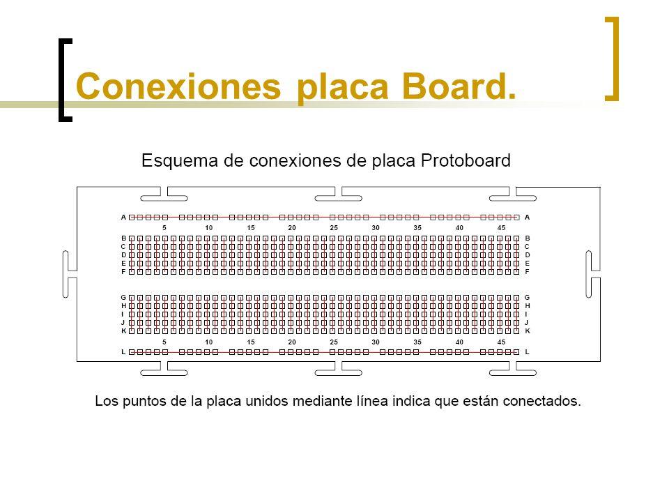 Asociación de resistencias en serie 6v B1 B2 GND Colocar las resistencias en serie en la placa board.