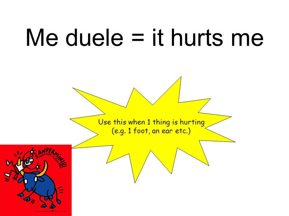 los pies Me duelen