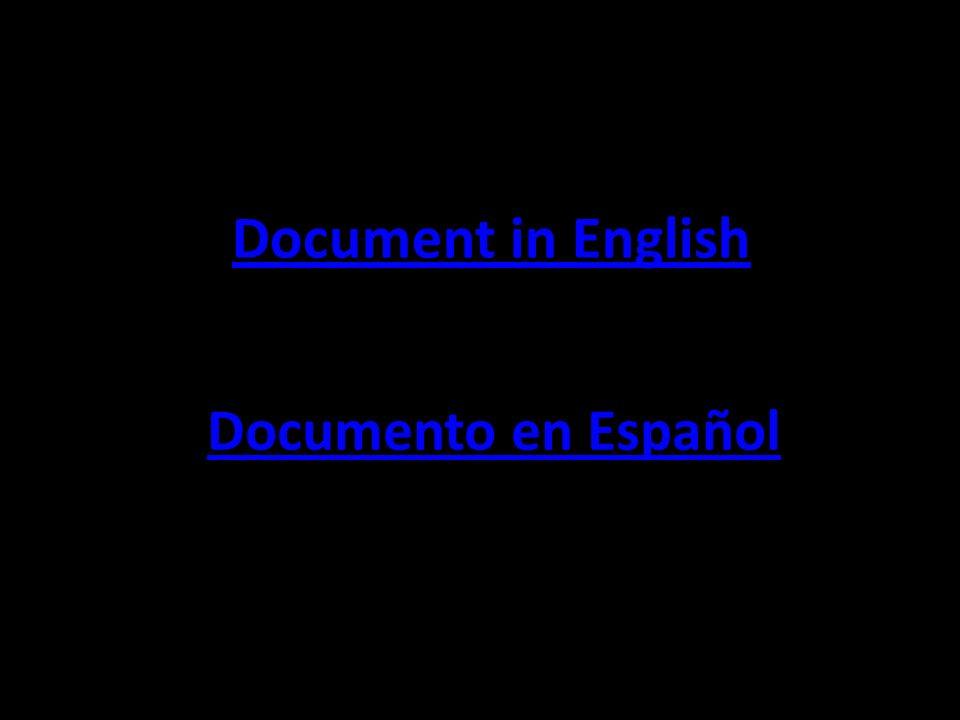 Documento en Español Document in English