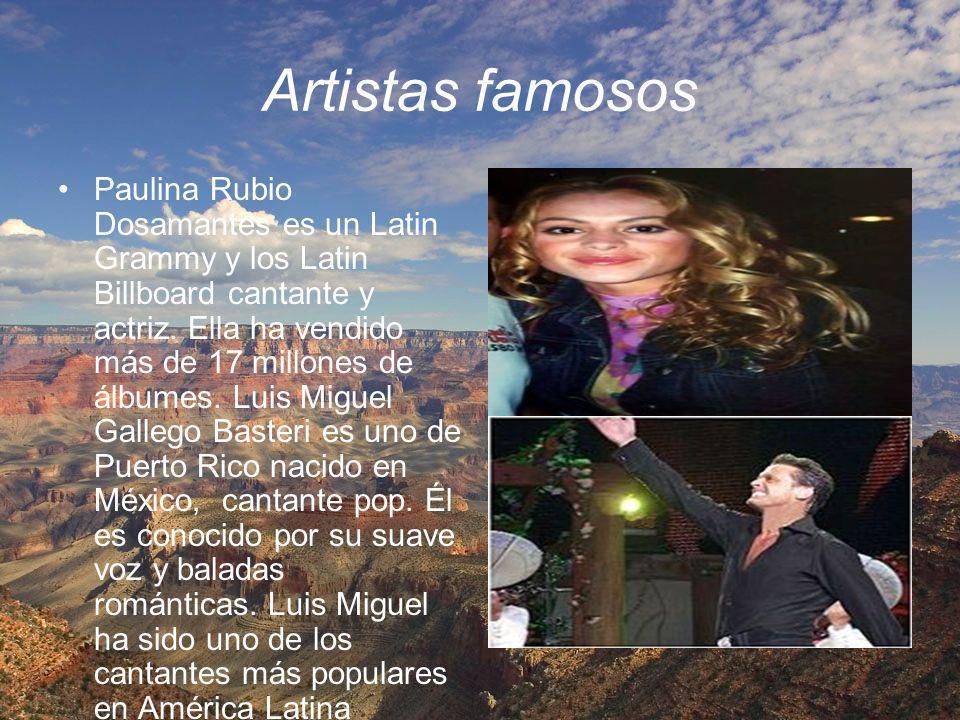 Artistas famosos Paulina Rubio Dosamantes es un Latin Grammy y los Latin Billboard cantante y actriz. Ella ha vendido más de 17 millones de álbumes. L