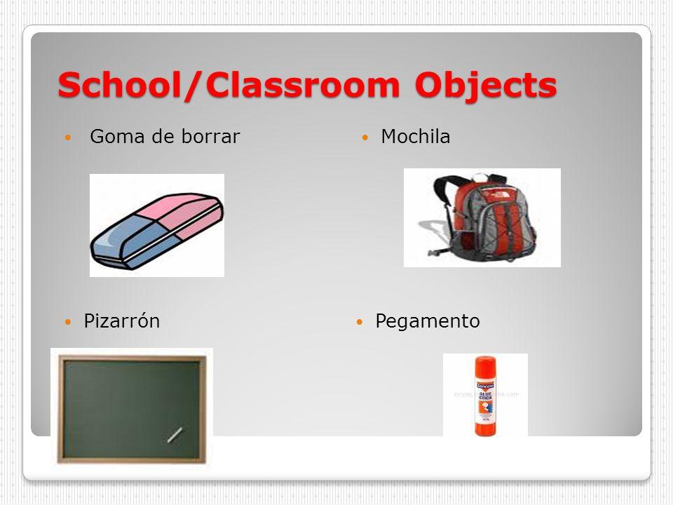 School/Classroom Objects Goma de borrar Mochila Pizarrón Pegamento