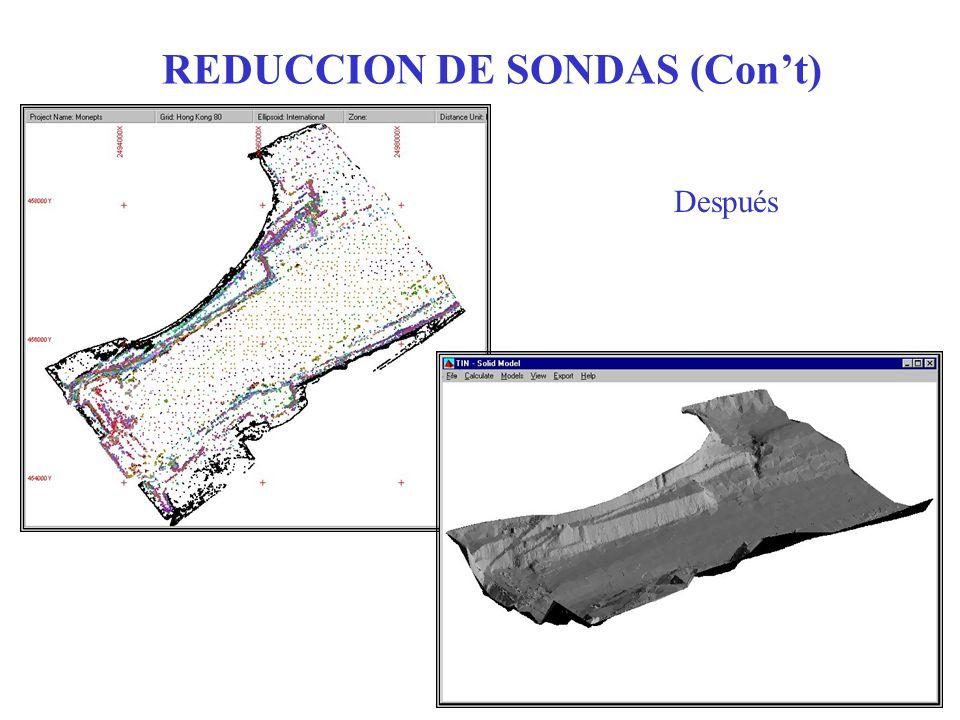 REDUCCION DE SONDAS (Cont) Después