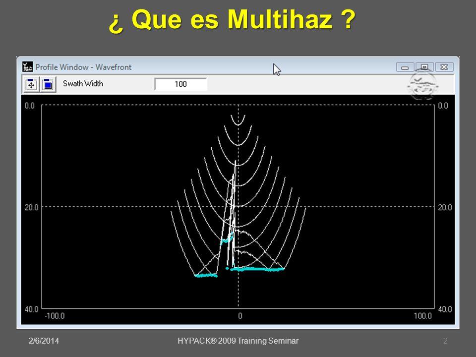 2/6/2014HYPACK® 2009 Training Seminar2 ¿ Que es Multihaz ?