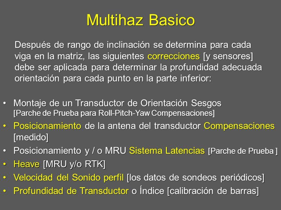 Multihaz Basico Montaje de un Transductor de Orientación Sesgos [Parche de Prueba para Roll-Pitch-Yaw Compensaciones]Montaje de un Transductor de Orie
