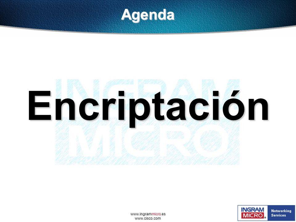 www.ingrammicro.es www.cisco.com EncriptaciónAgenda