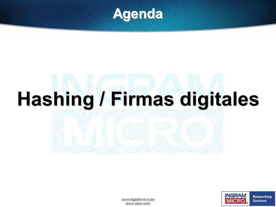 www.ingrammicro.es www.cisco.com Hashing / Firmas digitales Agenda