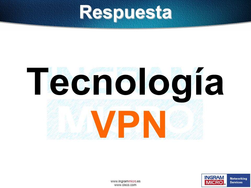 www.ingrammicro.es www.cisco.comRespuesta Tecnología VPN