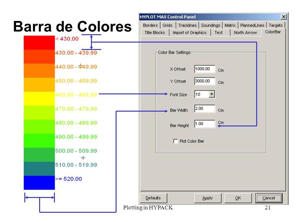 Plotting in HYPACK21 Barra de Colores