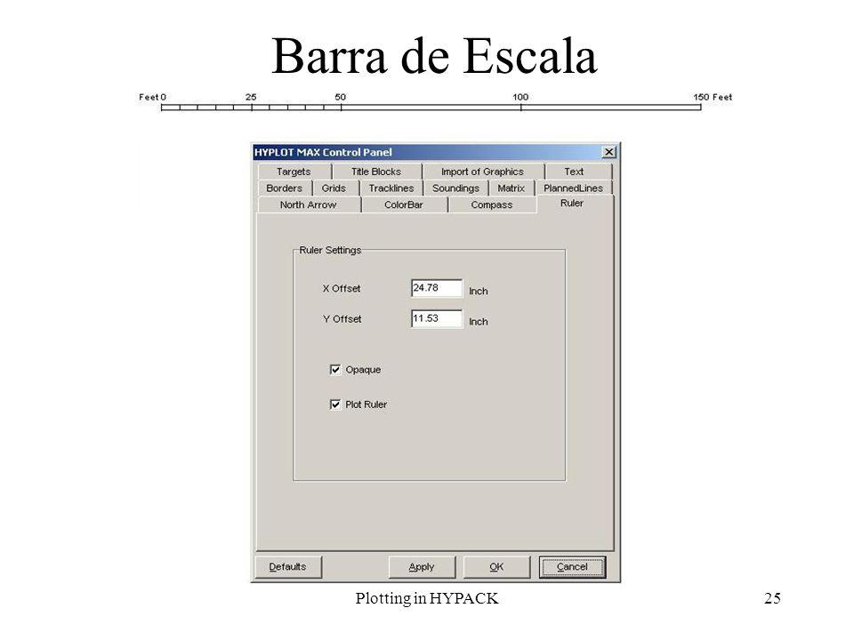 Plotting in HYPACK25 Barra de Escala