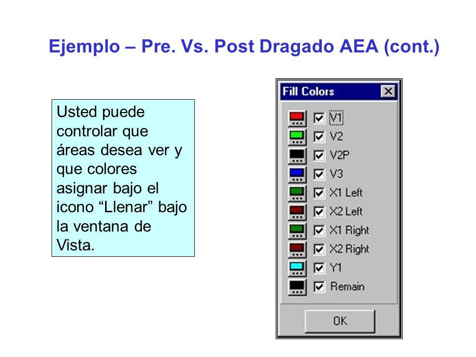 Ejemplo – Pre. Vs. Post Dragado AEA3 (cont.)