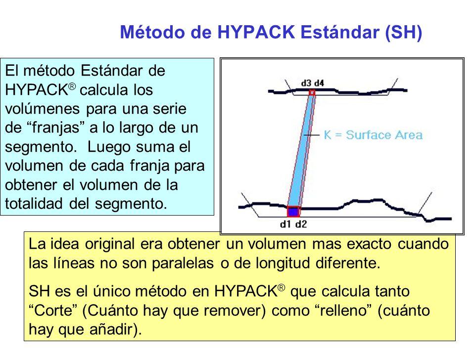 Método de HYPACK Estándar (cont.) El beneficio principal de SH es que puede soportar múltiple segmentos, mientras que AEA solo puede soportar 3 o 4.