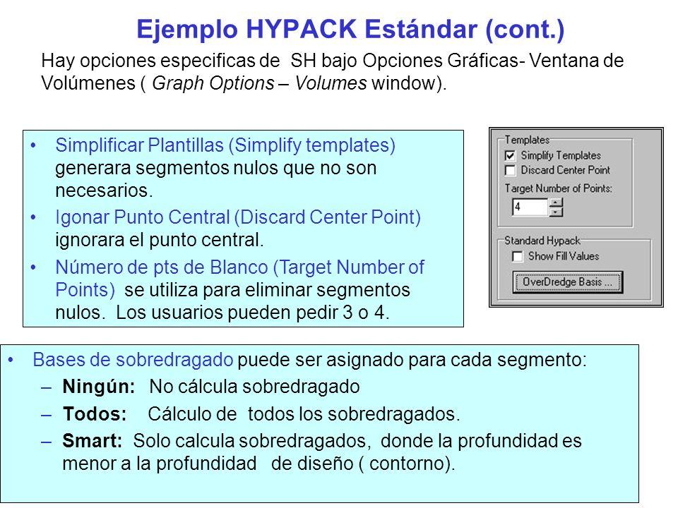 Ejemplo HYPACK Estándar (cont.) La ventana de Visualización es como aparece en la figura :