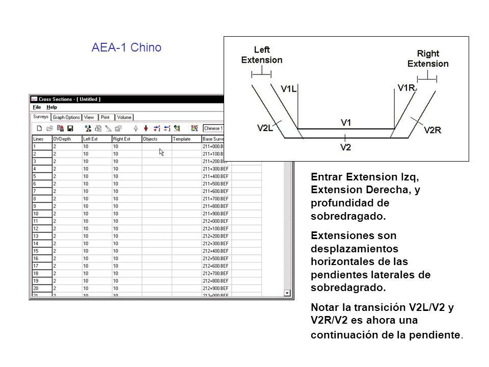 Chino AEA-1 Transición de Pendiente Lateral Transición AEA Transición China AEA