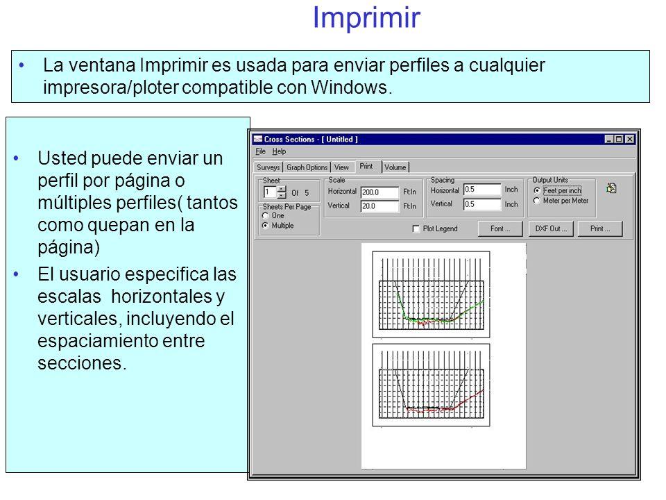 Reporte de Volumen El formato cambia, basado en el método seleccionado.