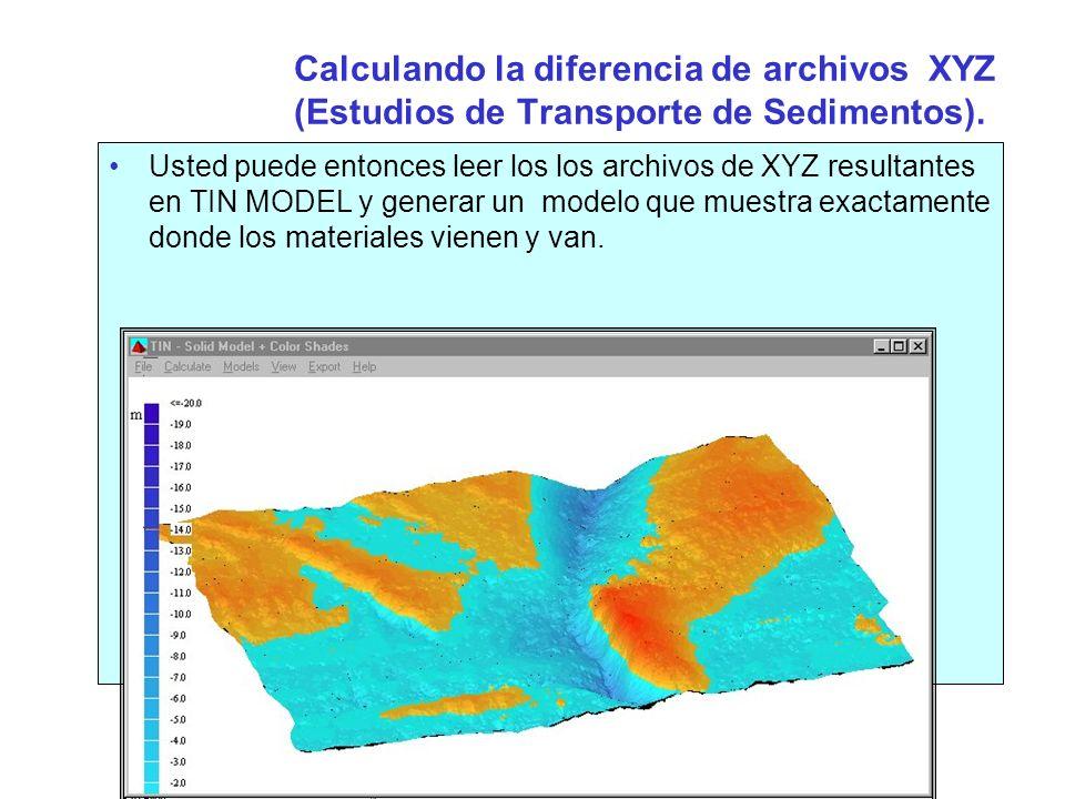 Rellenado archivos Matrix en TIN MODEL EL programa TIN MODEL puede ser usado para rellenar archivos Matriz para importar/Desplegar en el programa LEVANTAMIENTO.