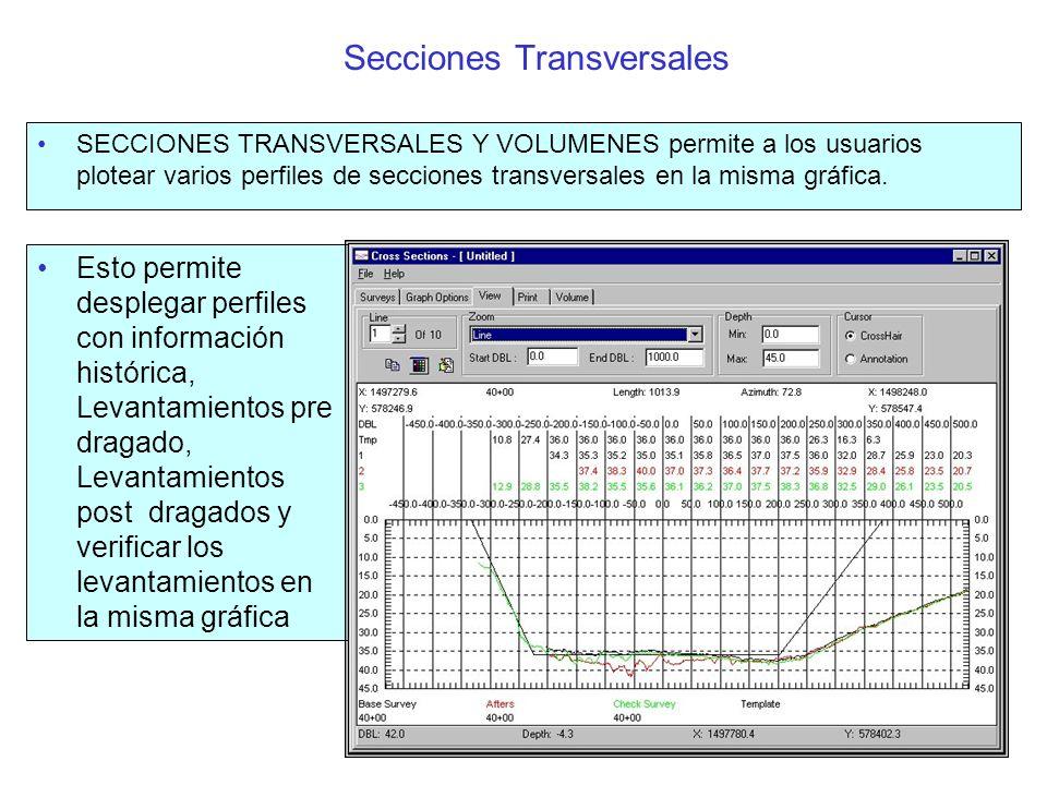 Secciones transversales Múltiples (Cont) Este Programa solo compara archivos que tienen las mismas coordenadas de Línea planeadas en la cabecera del archivo.