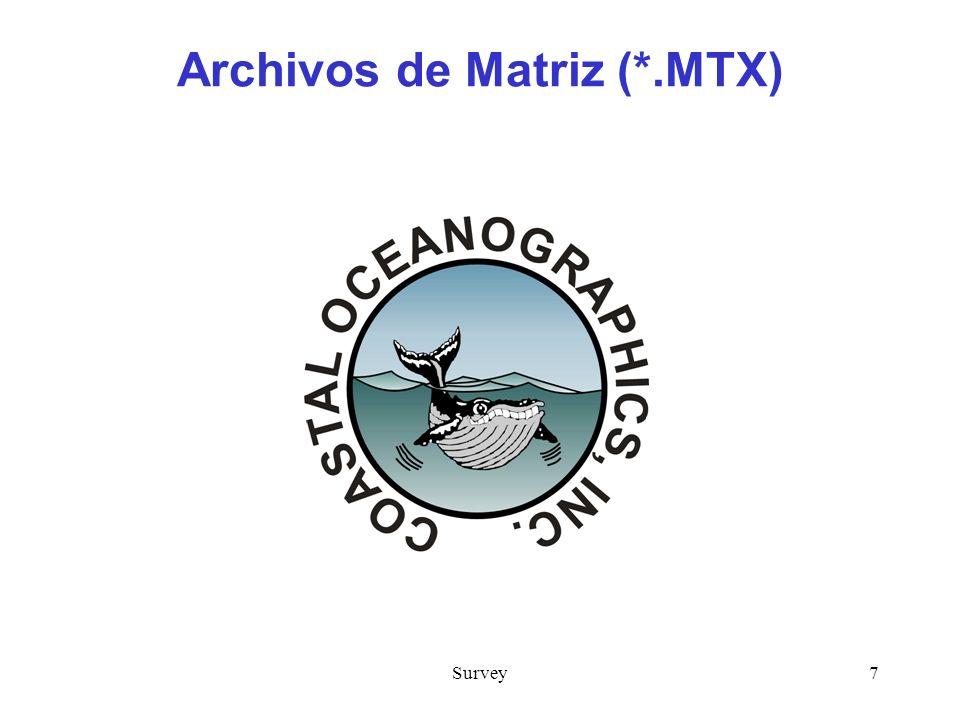 Survey7 Archivos de Matriz (*.MTX)