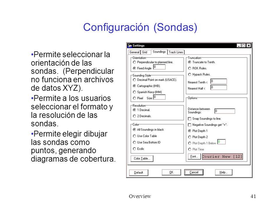 Overview41 Configuración (Sondas) Permite seleccionar la orientación de las sondas.