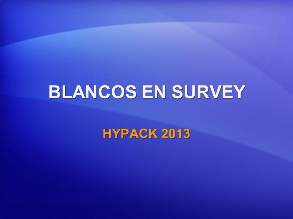 BLANCOS EN SURVEY HYPACK 2013