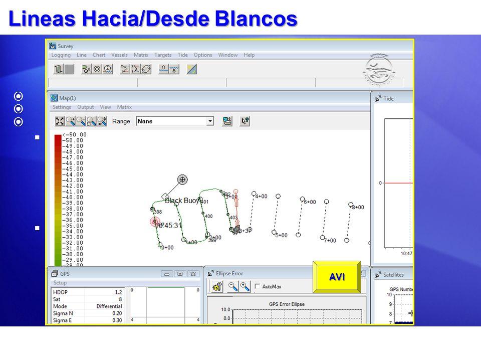 Lineas Hacia/Desde Blancos Clic-derecho en el blanco deseado.