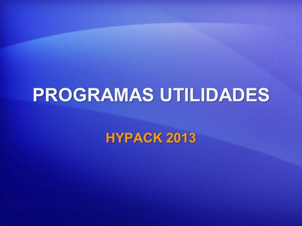 PROGRAMAS UTILIDADES HYPACK 2013