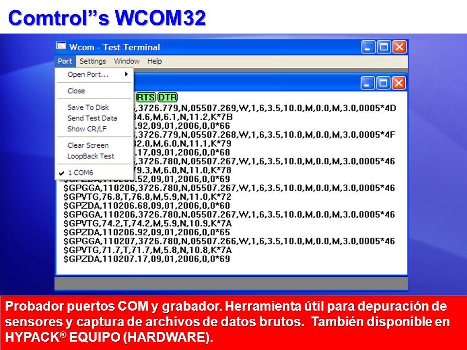 Comtrols WCOM32 Probador puertos COM y grabador.