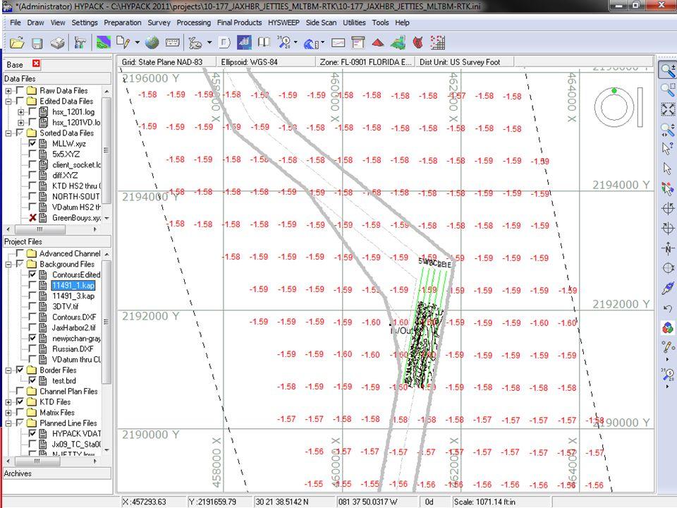 VDatum hasta XYZ Exporta un archivo XYZ donde Z igual a la separación entre el Datum Cartográfico y el Geoide de Referencia (NGVD88).