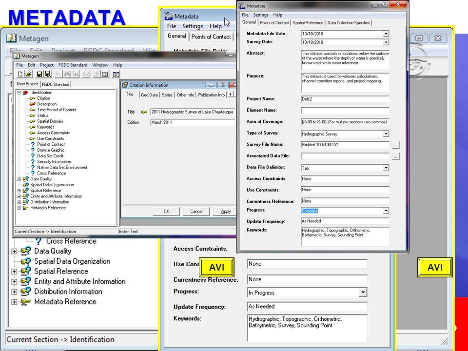 METADATA METADATA crea un archivo de metadatos compatible con FDGC.