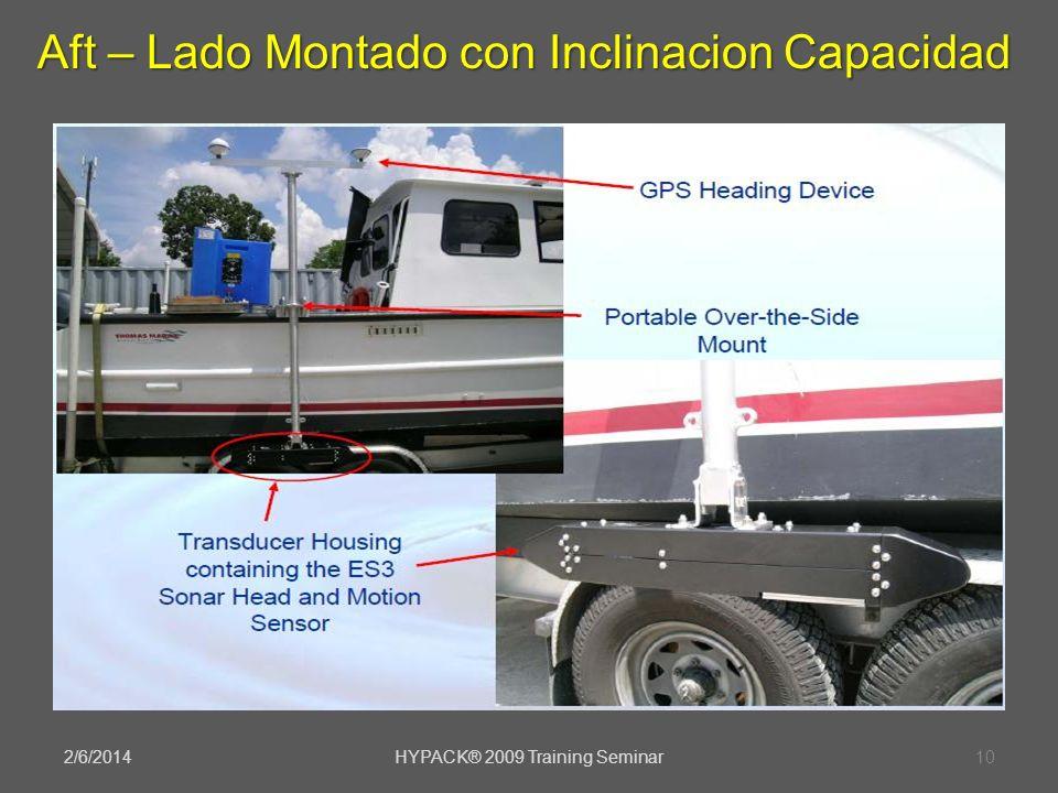 2/6/2014HYPACK® 2009 Training Seminar10 Aft – Lado Montado con Inclinacion Capacidad