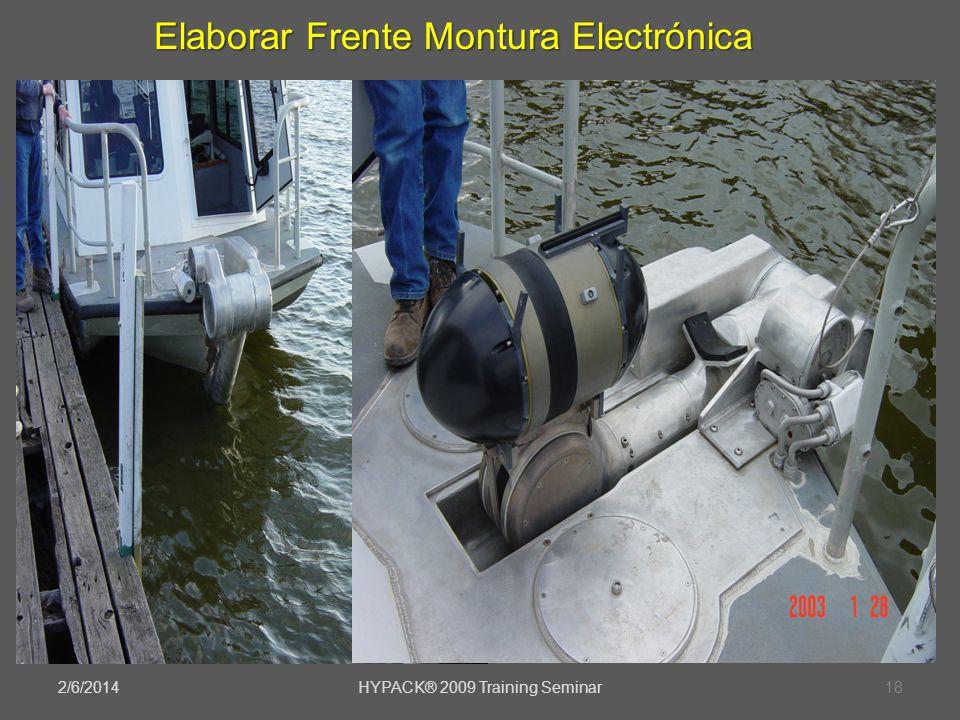 2/6/2014HYPACK® 2009 Training Seminar18 Elaborar Frente Montura Electrónica