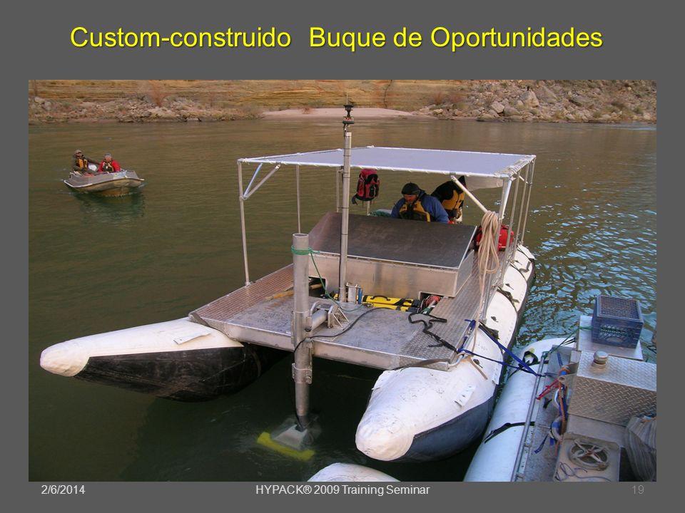 2/6/2014HYPACK® 2009 Training Seminar19 Custom-construido Buque de Oportunidades