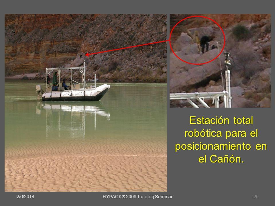 2/6/2014HYPACK® 2009 Training Seminar20 Estación total robótica para el posicionamiento en el Cañón.