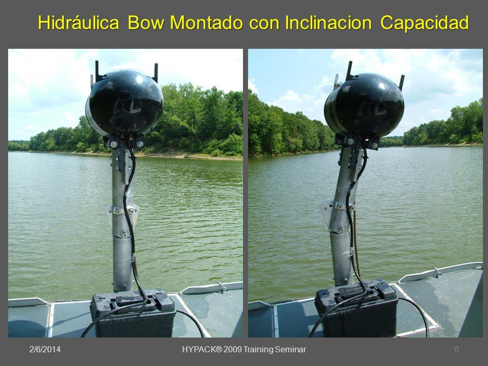 2/6/2014HYPACK® 2009 Training Seminar6 Hidráulica Bow Montado con Inclinacion Capacidad