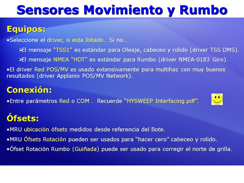 Sensores Movimiento y Rumbo Equipos: Seleccione el driver, si esta listado. Si no…Seleccione el driver, si esta listado. Si no… El mensaje TSS1 es est
