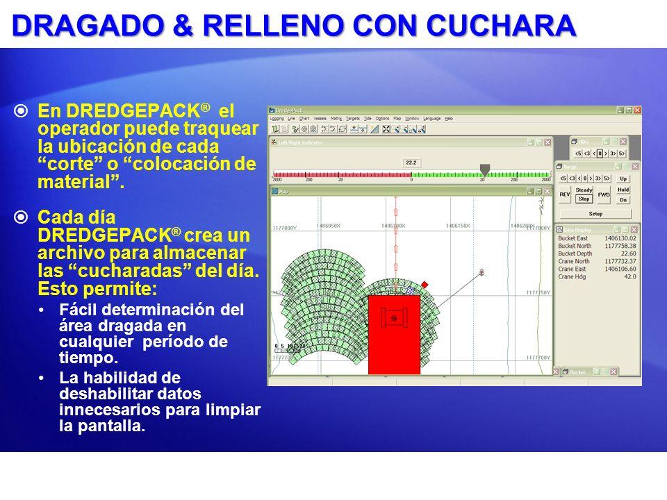 Defina la Huella de la cuchara Configurado en DREDGEPACK ® : Localizado bajo Opciones - Parámetros Cuchara.
